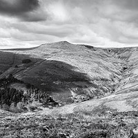 Buy canvas prints of Grindsbrook Clough, Kinder Scout by Martyn Williams