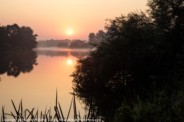 Sunrise On The River Trent Canvas print by Martyn Williams