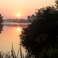 Buy canvas prints of Sunrise On The River Trent by Martyn Williams