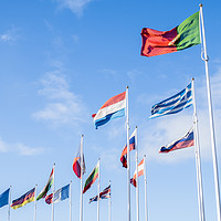 Buy canvas prints of Flags Of European Union Countries by Martyn Williams