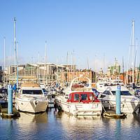 Buy canvas prints of Hull Marina by Martyn Williams
