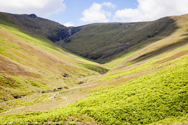 Crowden Clough, Kinder Scout Print by Martyn Williams