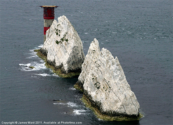 The Lighthouse at the Needles Canvas print by www.jwardphotography.com James Ward