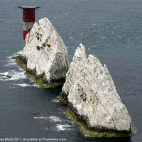 Buy canvas prints of The Lighthouse at the Needles by www.jwardphotography.com James Ward