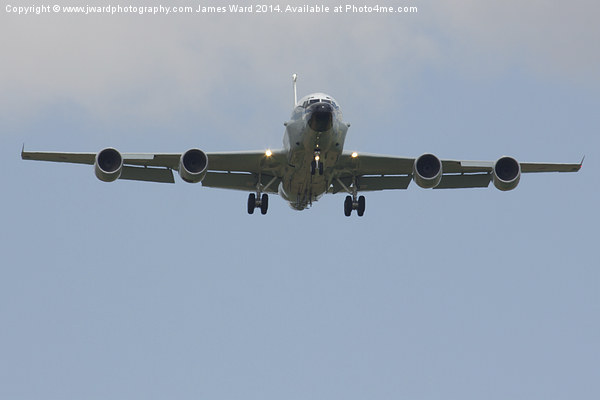 RAF RC-135 Rivet Joint Canvas print by www.jwardphotography.com James Ward