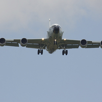 Buy canvas prints of  RAF RC-135 Rivet Joint by www.jwardphotography.com James Ward