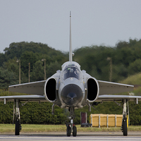 Buy canvas prints of  Saab JA37 Viggen at RAF Waddington Airshow 2014 by www.jwardphotography.com James Ward