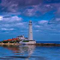 Buy canvas prints of St Mary's Lighthouse by Giorgio Elesaro