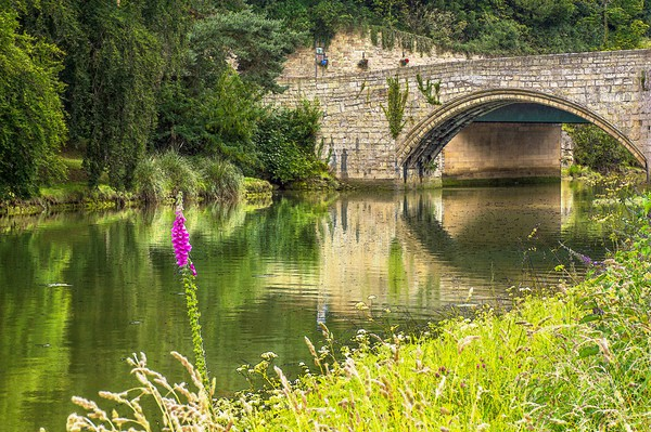 River Coquet and Warkworth Bridge Canvas print by Beyond the Borders UK