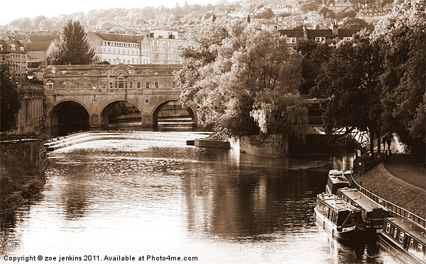 Pulteney Bridge Canvas print by zoe jenkins