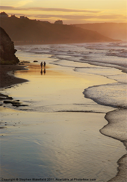 Stroll in evening light Canvas print by Stephen Wakefield