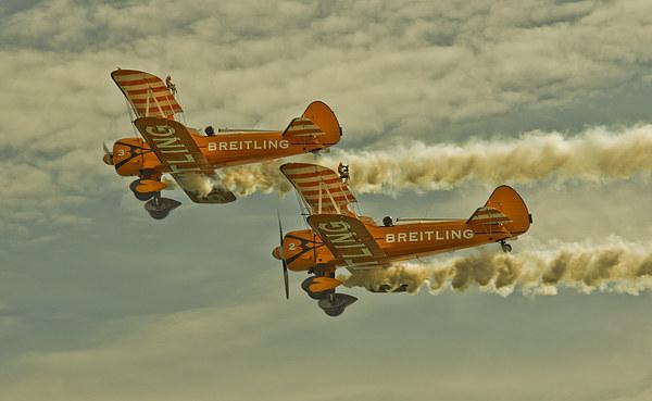 Breitling Bi Planes Canvas Print by Paul Fairman