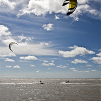 Buy canvas prints of Summer Kite Surfing by Aran Smithson