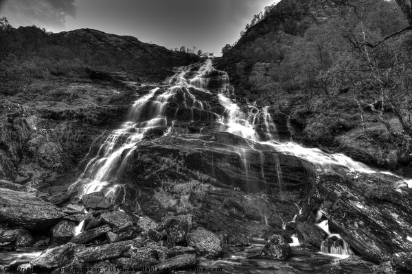 Steall Waterfalls - Glen Nevis -Highlands Canvas print by Aran Smithson