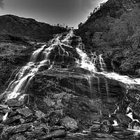 Buy canvas prints of Steall Waterfalls - Glen Nevis -Highlands by Aran Smithson