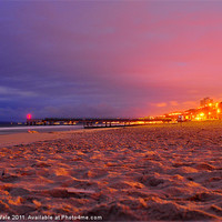 Buy canvas prints of Pier view at first light by Kelvin Futcher 2DFaced Photography