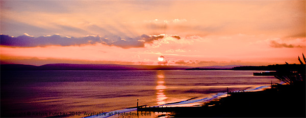 Tranquil Sunset over Poole Bay Canvas print by Kelvin Futcher 2DFaced Photography