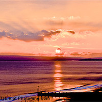 Buy canvas prints of Tranquil Sunset over Poole Bay by Kelvin Futcher 2DFaced Photography