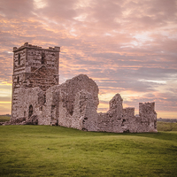 Buy canvas prints of Knowlton Church at sunset by Kelvin Futcher 2DFaced Photography