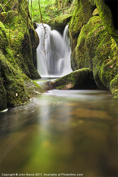 Waterfall above Castle Campbell Canvas print by John Barrie