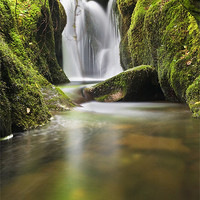 Buy canvas prints of Waterfall above Castle Campbell by John Barrie
