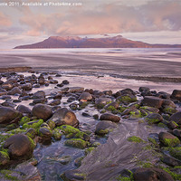 Buy canvas prints of Sunrise on the Isle of Rum by John Barrie