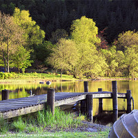 Buy canvas prints of Evening Light at Loch Ard by John Barrie