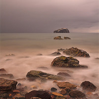 Buy canvas prints of Bass Rock from Seacliff Beach by John Barrie