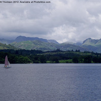 Buy canvas prints of Yacht on Lake Windermere by Scott Thomson