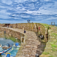 Buy canvas prints of Crail Harbour  by Corinne Mills