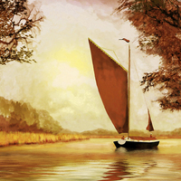 Buy canvas prints of The Wherry Albion by Valerie Anne Kelly
