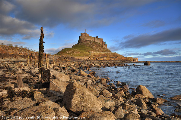 Evening Light on Lindisfarne Canvas print by paula smith