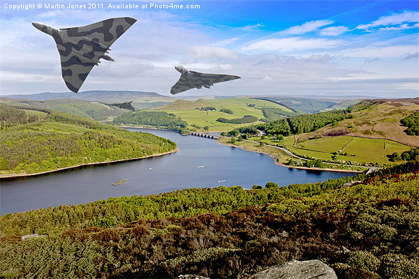 Vee Force over the Valley Canvas print by Martin Jones