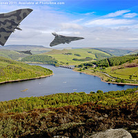 Buy canvas prints of Vee Force over the Valley by Martin Jones