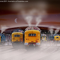"Buy canvas prints of Deltics -""Napiers in the Mist"" by Martin Jones"