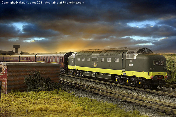 Ex Works Deltic on Test Canvas print by Martin Jones