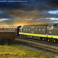 Buy canvas prints of Ex Works Deltic on Test by Martin Jones