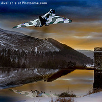 Buy canvas prints of Vulcan Thunder over Howden by Martin Jones