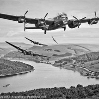 Buy canvas prints of 617 Squadron Homeward Bound by Martin Jones
