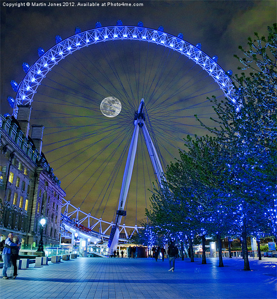 The London Eye Canvas print by Martin Jones