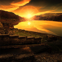 Buy canvas prints of Last Light in the Valley by Martin Jones