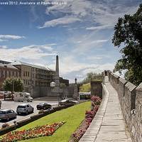 Buy canvas prints of York City Walls by Martin Jones