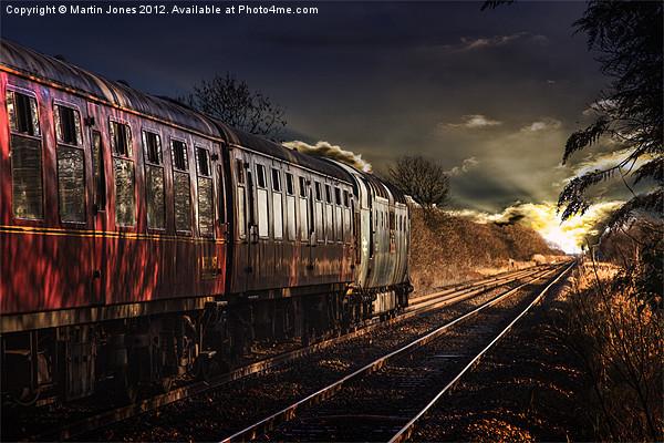 Deltic Sunset Canvas print by Martin Jones