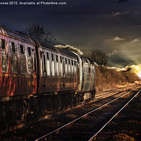 Buy canvas prints of Deltic Sunset by Martin Jones