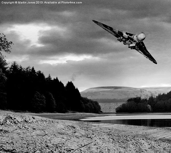 Vulcan over Derwent Canvas print by Martin Jones