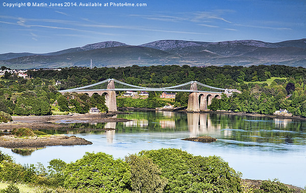 The Menai Bridge Canvas print by Martin Jones