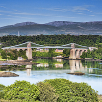 Buy canvas prints of The Menai Bridge by Martin Jones