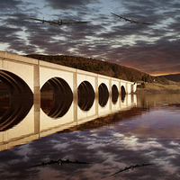 Buy canvas prints of  Lancasters over the Bridge by Martin Jones