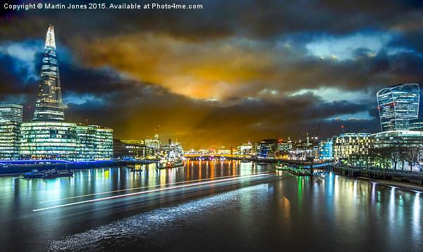 Last Light over London's City Lights Canvas print by Martin Jones