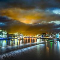 Buy canvas prints of  Last Light over London's City Lights by Martin Jones